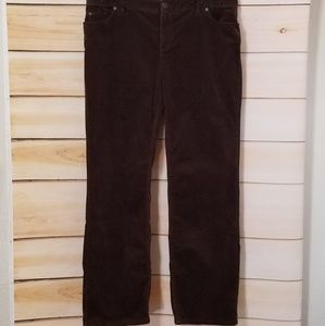 Coldwater Creek Brown Stretch Corduroy Pants 18 L